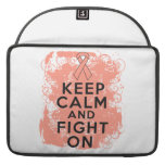 Endometrial Cancer Keep Calm and Fight On Sleeve For MacBook Pro
