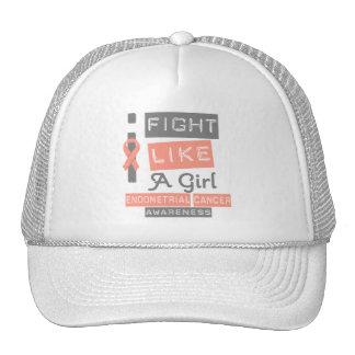 Endometrial Cancer Label Logo I Fight Like A Girl Trucker Hat