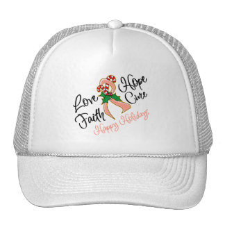 Endometrial Cancer Love Hope Holidays Trucker Hat