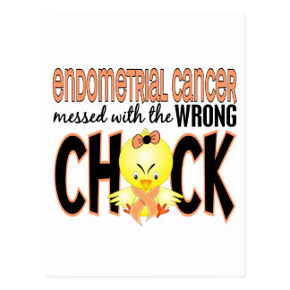 Endometrial Cancer Messed With The Wrong Chick Postcard