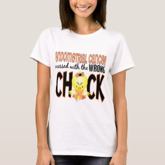 Endometrial Cancer Messed With The Wrong Chick T-Shirt