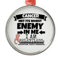 Endometrial Cancer Met Its Worst Enemy in Me Metal Ornament