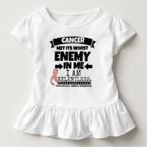 Endometrial Cancer Met Its Worst Enemy in Me Toddler T-shirt