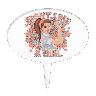 Endometrial Cancer Modern Rosie Fight Cake Picks