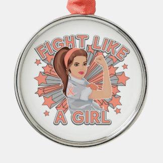 Endometrial Cancer Modern Rosie Fight Ornament