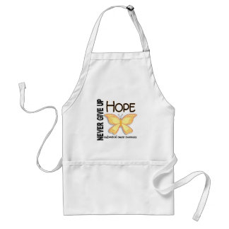 Endometrial Cancer Never Give Up Hope Butterfly 4 Aprons