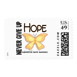 Endometrial Cancer Never Give Up Hope Butterfly 4 Postage