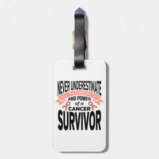 Endometrial Cancer Never Underestimate Strength Luggage Tag