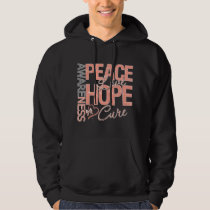 Endometrial Cancer Peace Love Cure Hooded Pullover