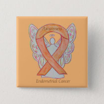 Endometrial Cancer Peach Awareness Ribbon Pins