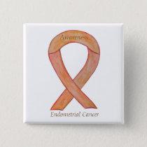Endometrial Cancer Peach Awareness Ribbon Pins