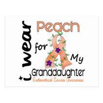 Endometrial Cancer Peach For My Granddaughter 43 Postcard