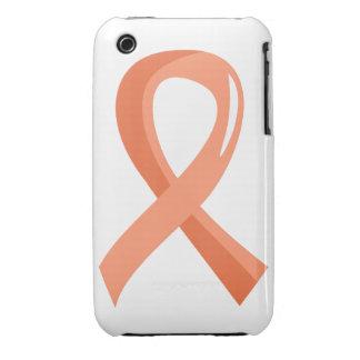 Endometrial Cancer Peach Ribbon 3 iPhone 3 Cases
