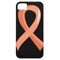 Endometrial Cancer Peach Ribbon 3 iPhone SE/5/5s Case