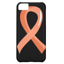 Endometrial Cancer Peach Ribbon 3 Case For iPhone 5C