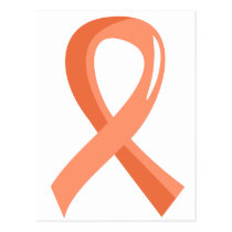 Endometrial Cancer Peach Ribbon 3 Postcard