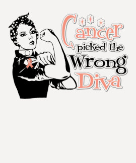 Endometrial Cancer Picked The Wrong Diva T Shirt