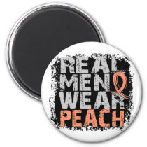 Endometrial Cancer Real Men Wear Peach Magnet