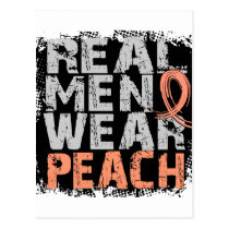 Endometrial Cancer Real Men Wear Peach Postcard