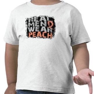 Endometrial Cancer Real Men Wear Peach Shirt