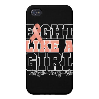 Endometrial Cancer Sporty Fight Like a Girl iPhone 4 Cover