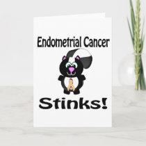 Endometrial Cancer Stinks Skunk Awareness Design Card