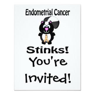 Endometrial Cancer Stinks Skunk Awareness Design 4.25x5.5 Paper Invitation Card
