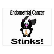 Endometrial Cancer Stinks Skunk Awareness Design Postcard