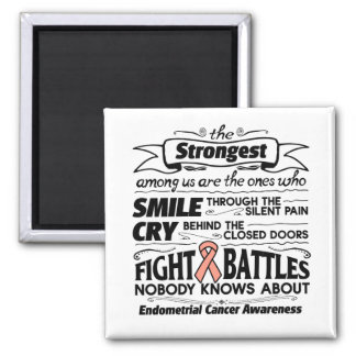 Endometrial Cancer Strongest Among Us 2 Inch Square Magnet