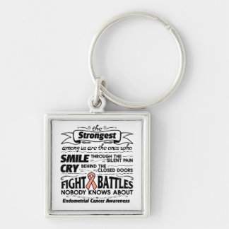 Endometrial Cancer Strongest Among Us Keychain