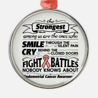 Endometrial Cancer Strongest Among Us Metal Ornament