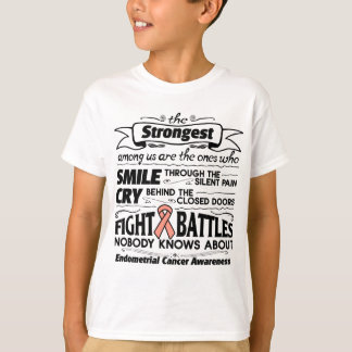 Endometrial Cancer Strongest Among Us T-Shirt