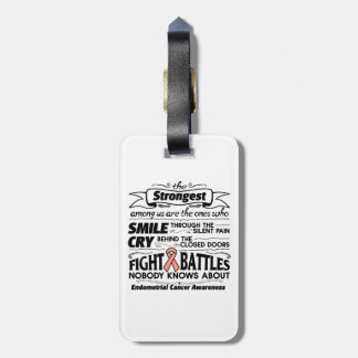Endometrial Cancer Strongest Among Us Tag For Luggage