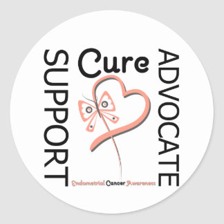 Endometrial Cancer Support Advocate Cure Classic Round Sticker
