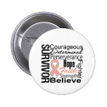 Endometrial Cancer Survivor Collage Pin