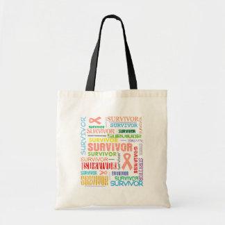 Endometrial Cancer Survivor Collage.png Budget Tote Bag