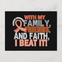 Endometrial Cancer Survivor Family Friends Faith Postcard