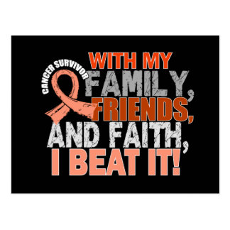 Endometrial Cancer Survivor Family Friends Faith Postcard