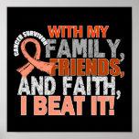 Endometrial Cancer Survivor Family Friends Faith Poster