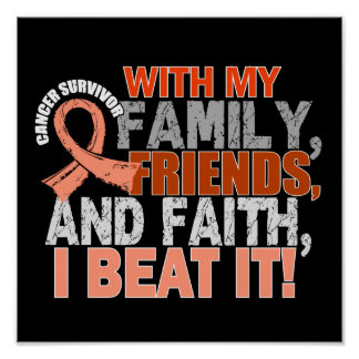 Endometrial Cancer Survivor Family Friends Faith Poster