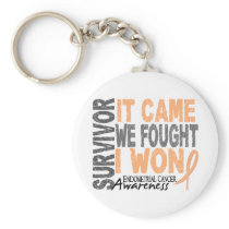 Endometrial Cancer Survivor It Came We Fought Keychain