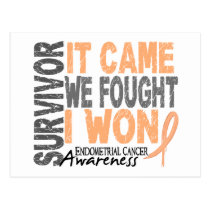 Endometrial Cancer Survivor It Came We Fought Postcard