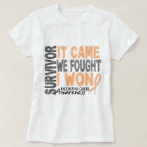 Endometrial Cancer Survivor It Came We Fought Tee Shirt