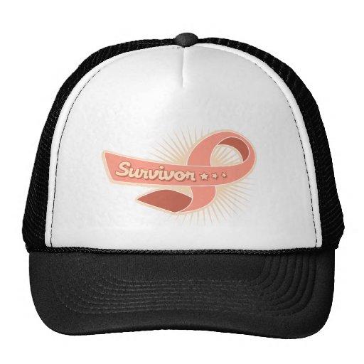 Endometrial Cancer Survivor Ribbon Trucker Hat