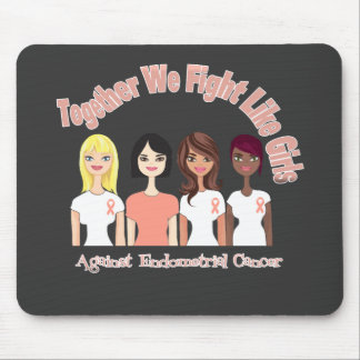 Endometrial Cancer Together We Fight Like Girls Mouse Pads