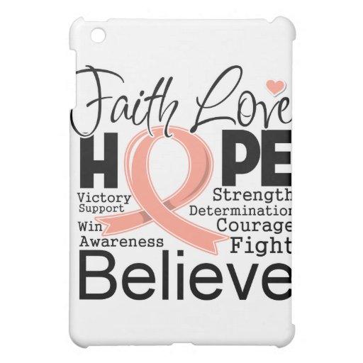 Endometrial Cancer Typographic Faith Love Hope Cover For The iPad Mini