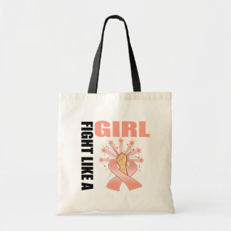 Endometrial Cancer Victory Fight Like A Girl Canvas Bags