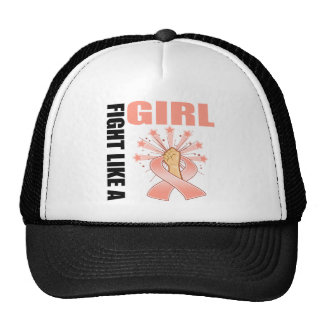 Endometrial Cancer Victory Fight Like A Girl Mesh Hats