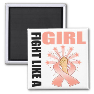 Endometrial Cancer Victory Fight Like A Girl Fridge Magnets