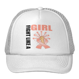 Endometrial Cancer Victory Fight Like A Girl Trucker Hat